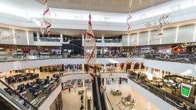 全景timelapse奇姆肯特广场购物中心 4K TimeLapse -奇姆肯特1月2017年,哈萨克斯坦 影视素材