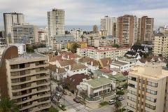 全景Viña Del Mar,智利 免版税库存照片