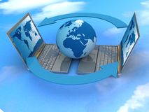 全球互联网 库存图片