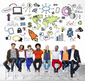 全球企业世界组织市场商务概念 免版税库存照片