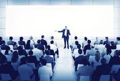 全球企业人会议研讨会想法概念 免版税库存照片