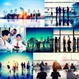 全球企业人公司汇集概念 免版税库存照片