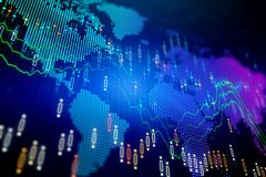 全球企业和财务概念 向量例证