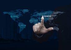 全球企业措辞世界地图,这图象furnishe的元素 库存图片