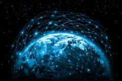 全球企业的最佳的互联网概念从 免版税库存图片
