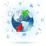 全球企业的概念 免版税库存照片