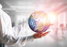 全球企业,环境保护概念 免版税库存图片