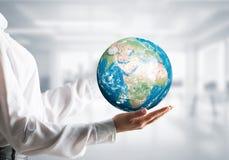 全球企业,环境保护概念 免版税库存照片