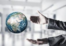 全球企业,环境保护概念 库存图片