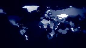 全球企业-世界扩展,地图动画的概念 向量例证
