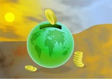 全球储蓄 向量例证