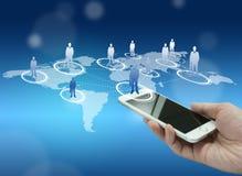 全球化或社会网络概念背景与新的基因 库存照片