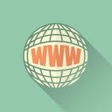 全球化通过互联网 免版税图库摄影
