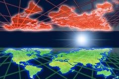 全球反映温暖的世界 皇族释放例证
