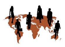 全球大厦的商业 向量例证