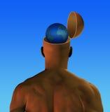 全球头脑 库存图片