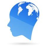 全球头脑 免版税库存图片