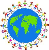 全球孩子 库存照片