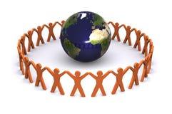 全球小组 库存例证