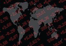 全球市场股票 向量例证