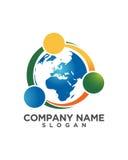 全球性伙伴成功摘要业务保险摘要 免版税库存照片