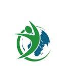 全球性伙伴生长抽象业务保险摘要 免版税库存照片