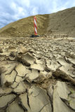 全球性变暖做地球烘干  免版税库存图片