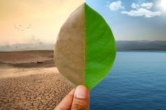 全球性变暖和气候变化 免版税库存图片