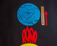 全球性变暖地球 免版税图库摄影