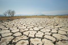 全球性变暖问题,地面土地是干燥的,天旱适应 库存照片