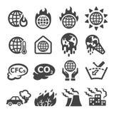 全球性变暖,温室效应象集合 皇族释放例证