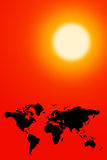 全球性变暖 免版税库存图片