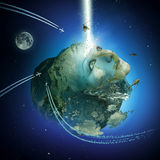 全球性唤醒 地球的定标 免版税库存图片