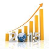 2015全球性成长, 3d回报 免版税图库摄影