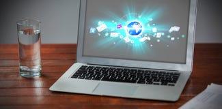 全球性技术背景的综合图象 免版税图库摄影