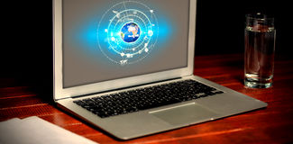 全球性技术背景的综合图象 库存图片