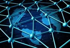全球性数据网 免版税库存图片