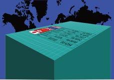 全球性汇兑 向量例证