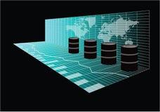 全球性油贸易 免版税库存图片