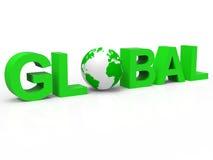 全球性的地球表明全世界公司和商务 图库摄影