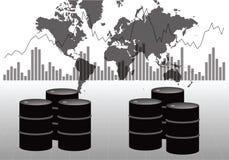 全球性石油市场 向量例证