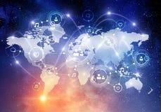 全球性网络事务 库存图片
