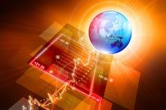 全球性股市图表 图库摄影