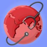 全球性肺炎天概念背景,动画片样式 向量例证