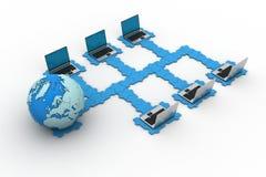 全球性计算机网络 免版税库存照片