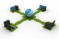 全球性计算机网络 图库摄影