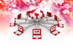 全球性计算机网络 库存图片