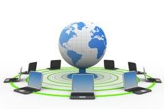 全球性计算机网络 免版税库存图片