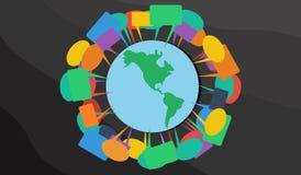 全球性讨论 库存照片