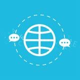 全球性连接和航海技术,送电子邮件,消息,概念被隔绝的例证 免版税库存图片